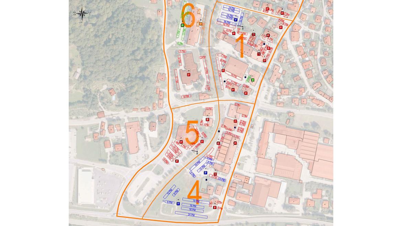 IB-KOM-Situacija evidentiranih parkirnih mest in parkirne opreme