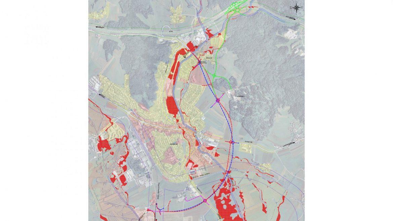 Slika 2 - Obravnavani koridor obvoznice