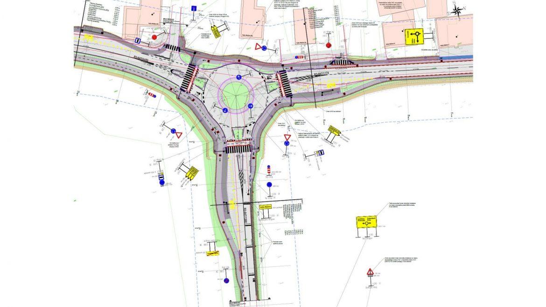 Slika 3 - Prometna situacija krožnega križišča Veliko Mlačevo