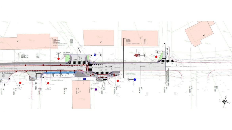 Slika 3 - Prometna situacija ureditve Gasilske ceste - 2. del